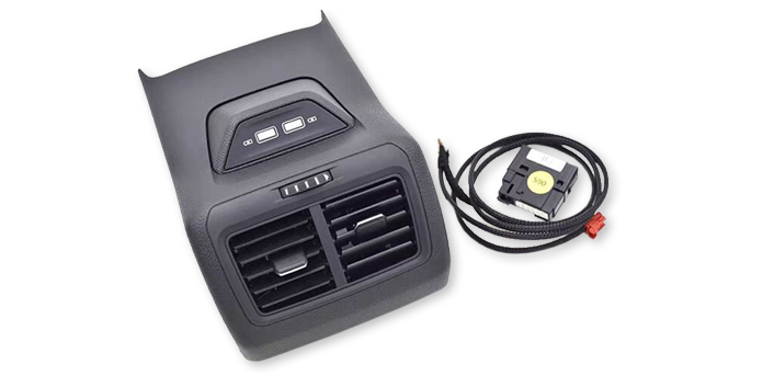MK7 Rear USB charger - Black, Plug&Play (no coding required), fits Golf MK7